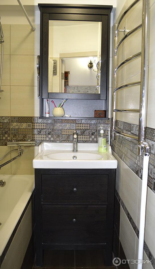 отзыв о мебель для ванной комнаты Ikea хемнэс наш умывальников