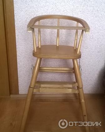 Икеа стульчик для кормления деревянный