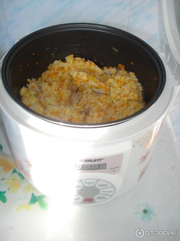 Рис в мультиварке скарлет рецепт