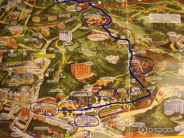 Карта Кисловодского парка