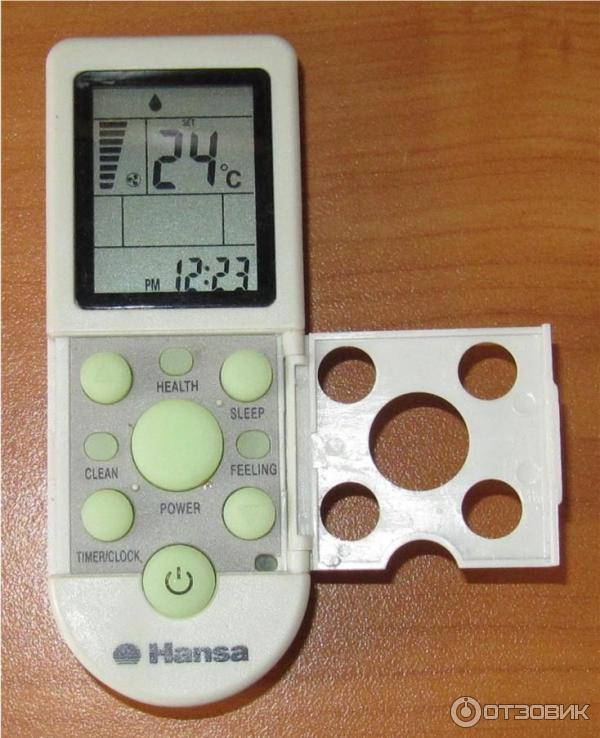 пульт от кондиционера инструкция hansa