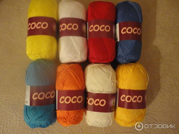 Нитки коко для вязания крючком 873
