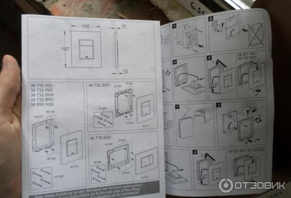 Инструкция по установки инсталляции grohe