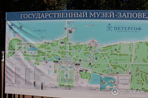 план Петергофа