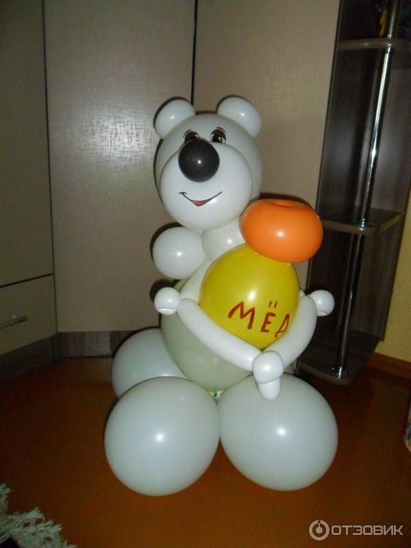 мишка из шаров фото инструкция - фото 8