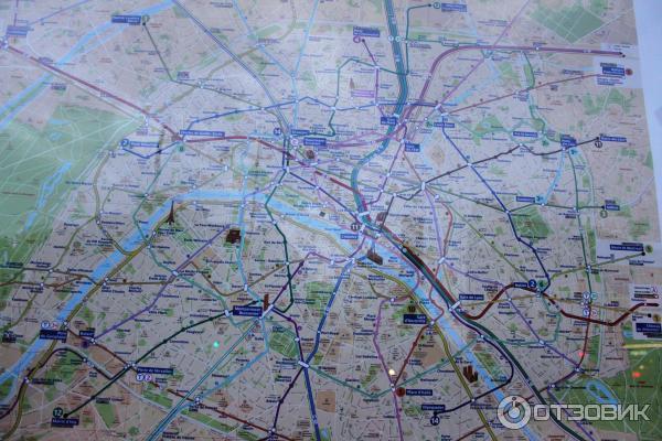 А эта карта метро Парижа,