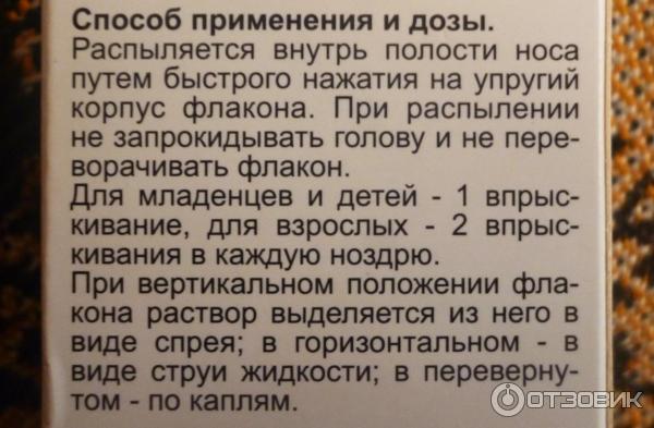 Салин Спрей Инструкция
