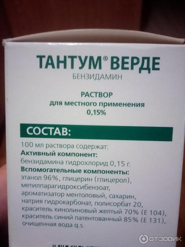 Тантум верде жидкость для полоскания