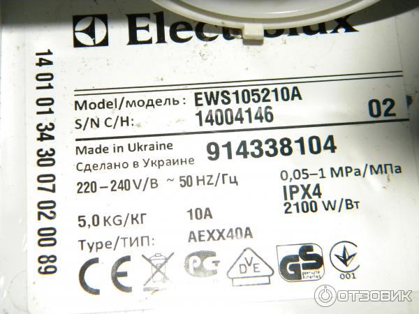 ews105210a инструкция