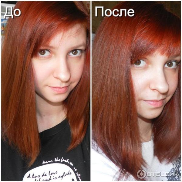 окрашивание волос хной фото до и после