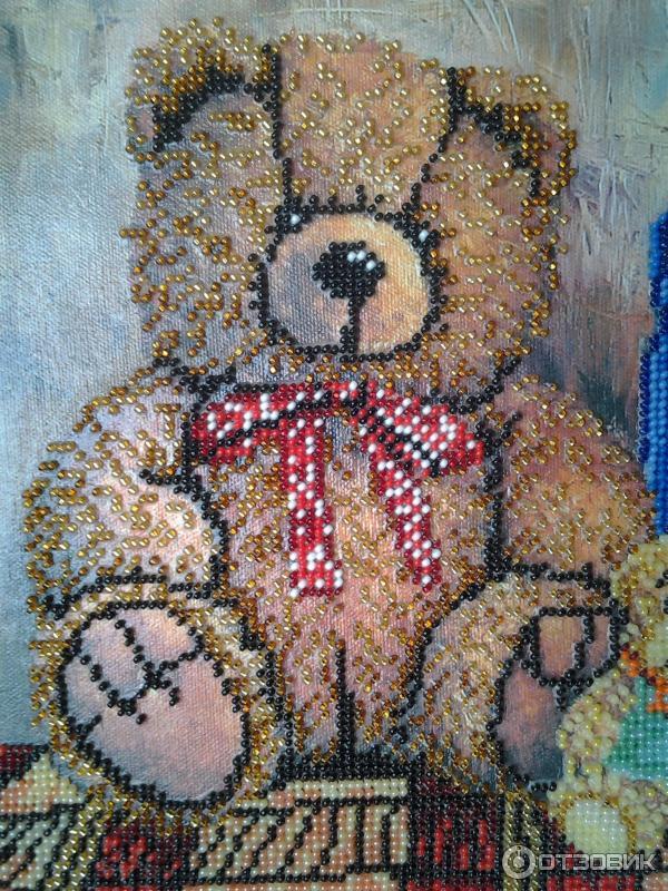 Вышивка гладью медвежонка 39