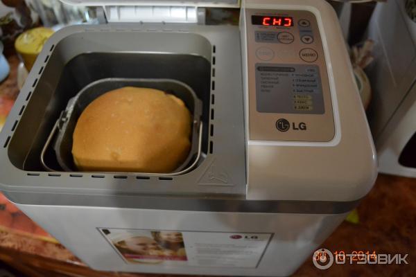 Отзыв о Хлебопечка LG HB-1002CJ Очень нужная вещь, для тех, кто хочет кушать действительно вкусный хлеб.