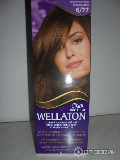 Краска для волос темный шоколад wellaton
