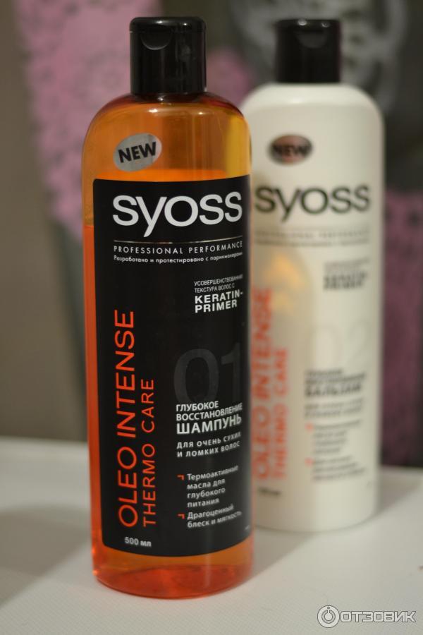 Шампунь syoss для сухих и ломких волос