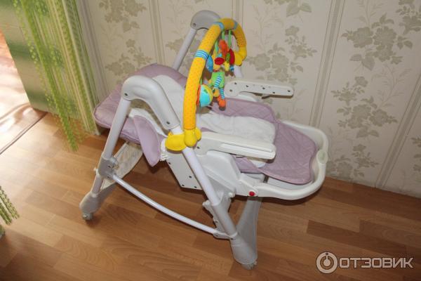 Стульчик для кормления с дугой для игрушек