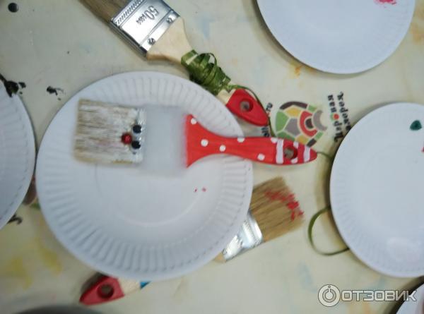 Дед Мороз из кисточки