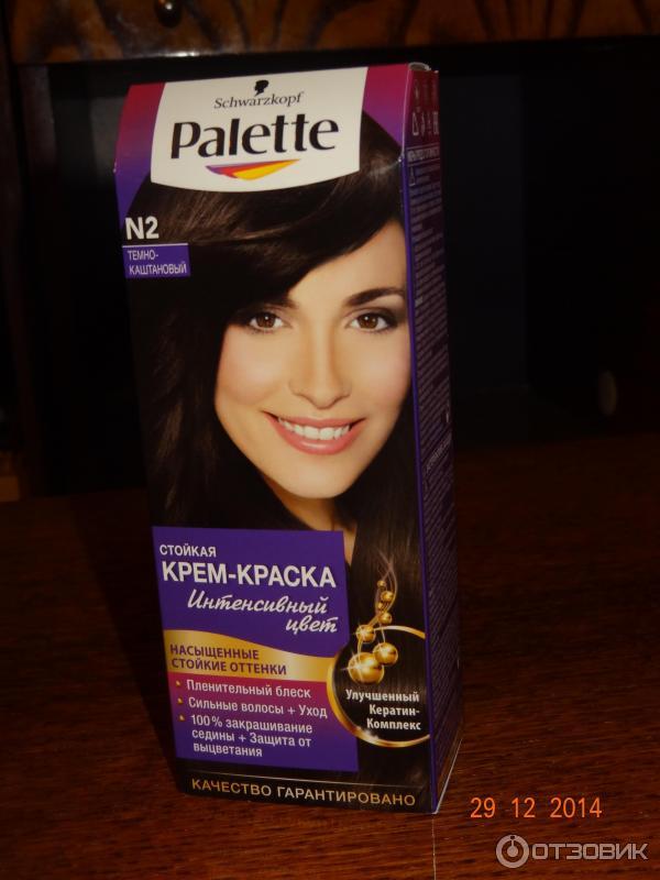 Краска для волос коричневый цвет палет