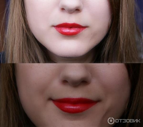 Красная помада для маленьких губ