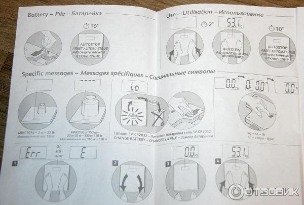 Весы электронные напольные
