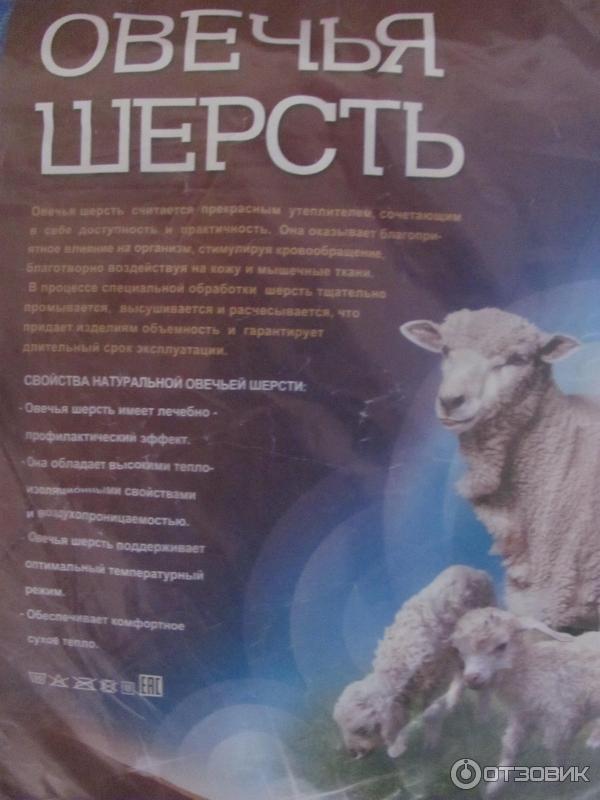 Одеяло из овечьей шерсти Надежда-текс фото