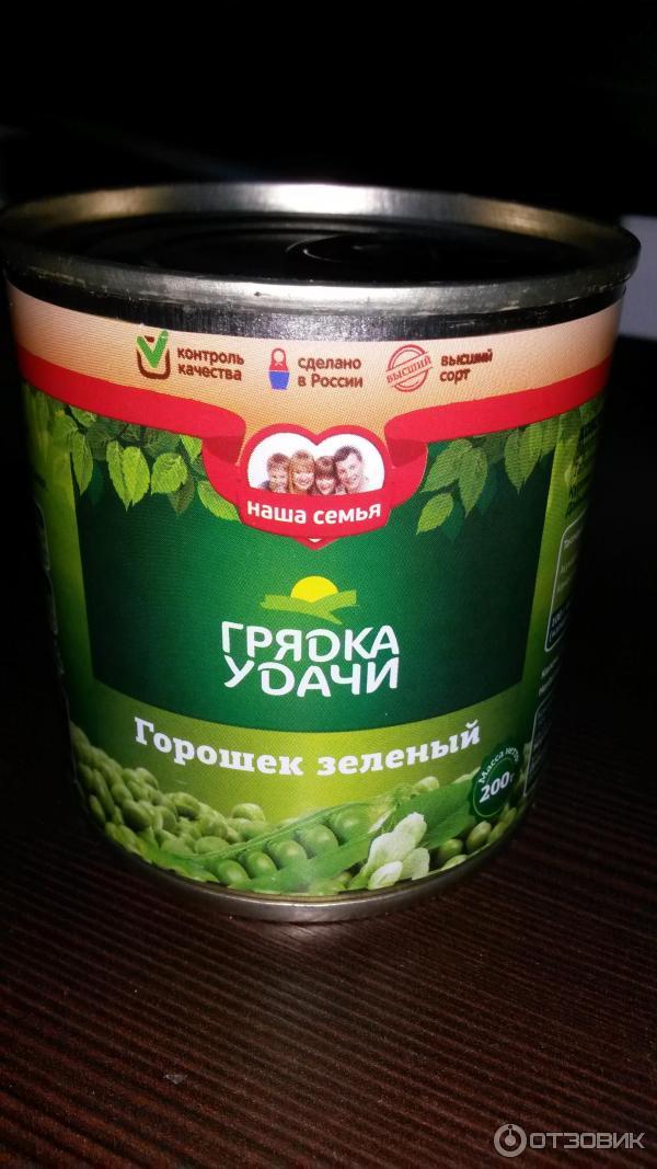 Калорийность и полезные свойства - Горошек зелёный