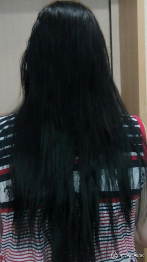 Чёрные волосы в домашних условиях 994