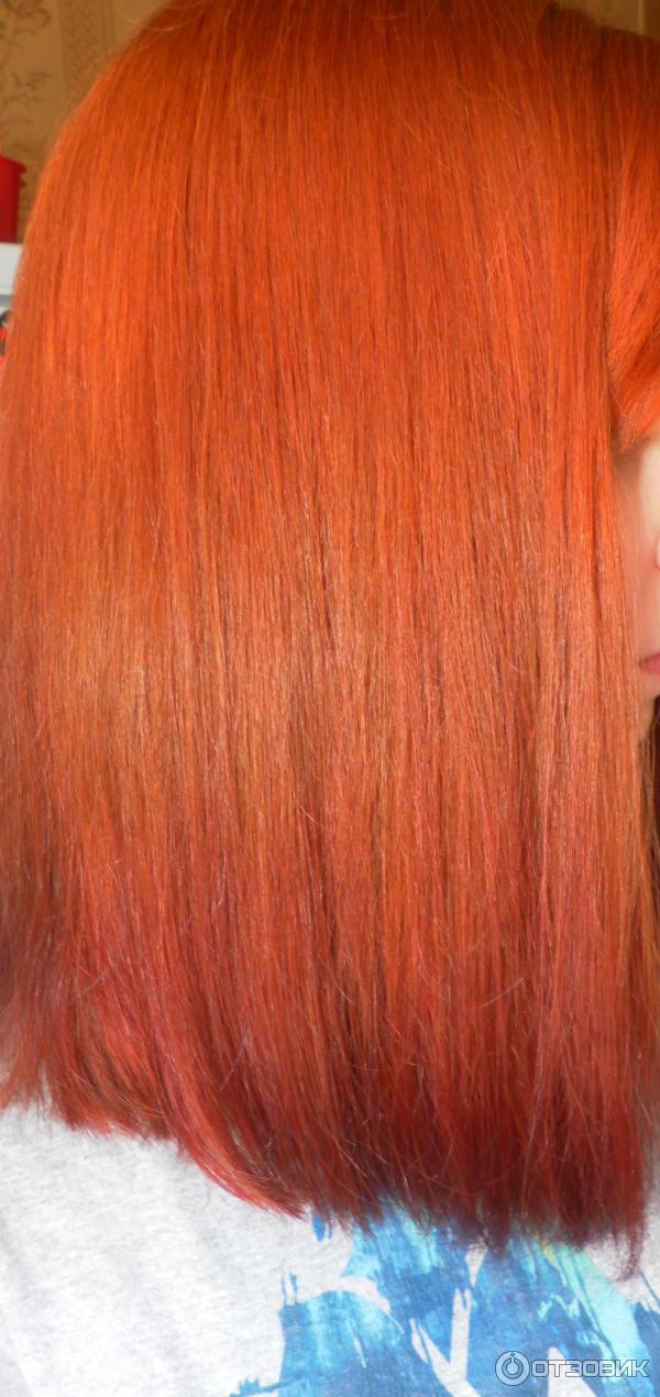 Тоника красный янтарь на русые волосы