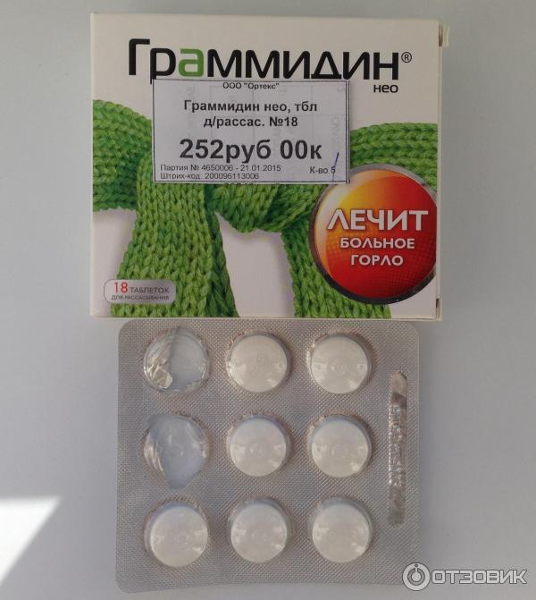 Инструкция таблетки граммидин