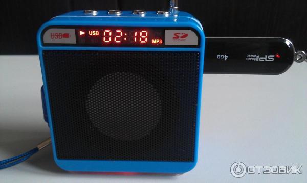 Бытовая техника портативная колонка wster ws-918 с музыкой.