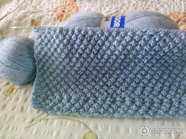 Вязание шарфа спицами yarnart