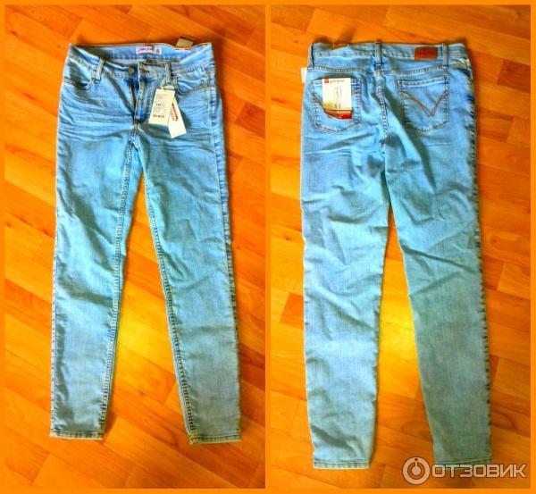 фото однотонных джинс