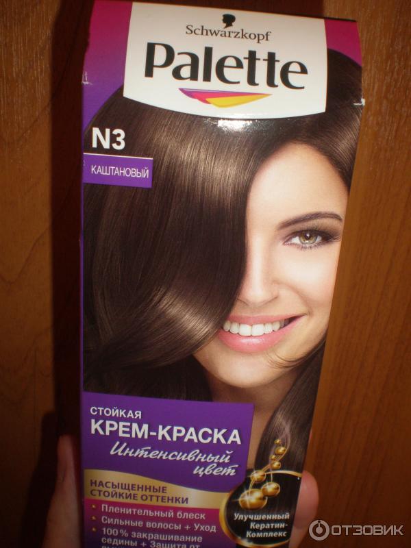 Цвет каштан краска для волос