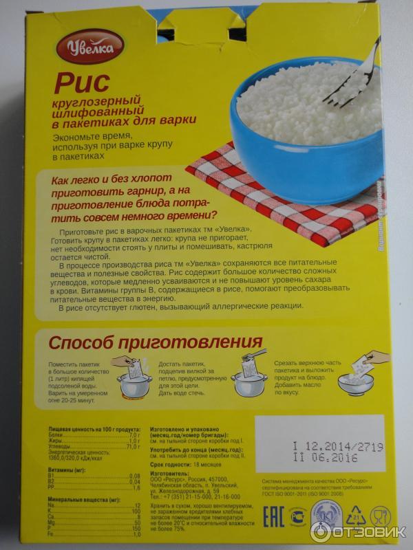 круглозерный химический состав рис