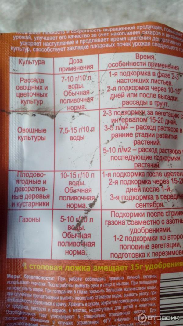 Применение монофосфата калия для рассады помидор 58