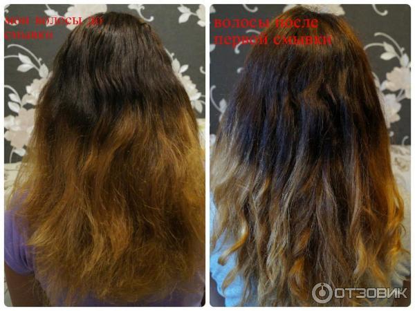 Смывание краски с волос