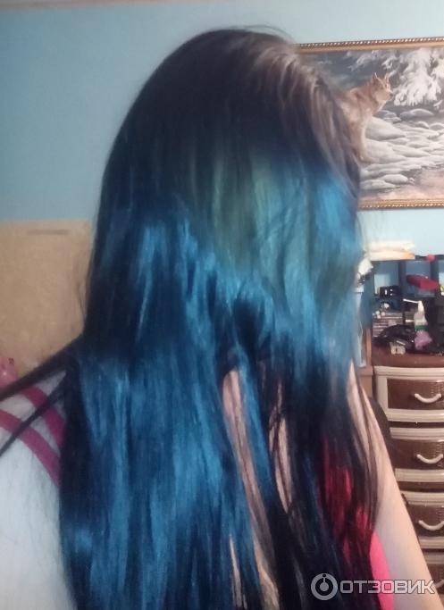 Синие волосы в домашних условиях 331