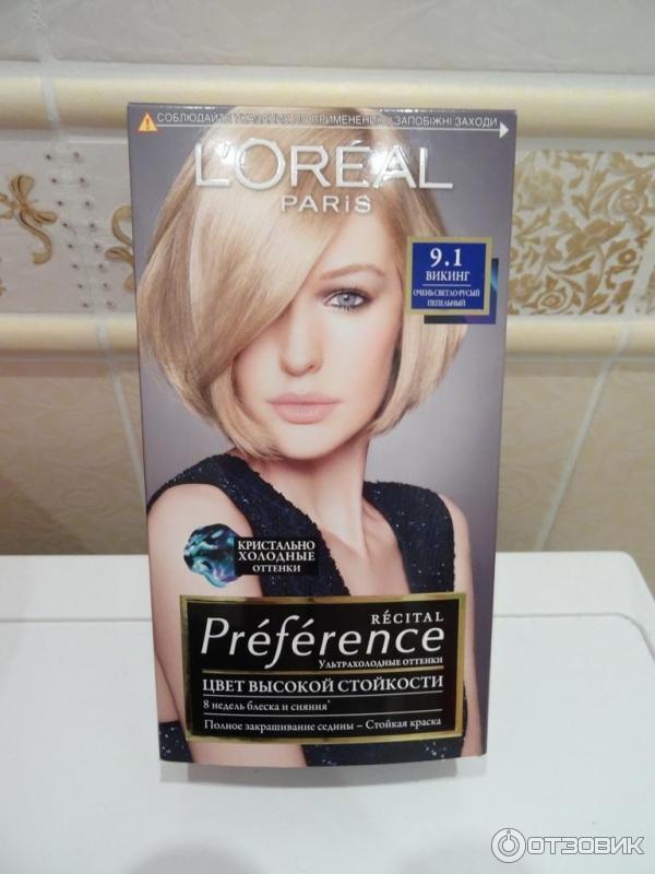 Loreal краска для волос 9.1