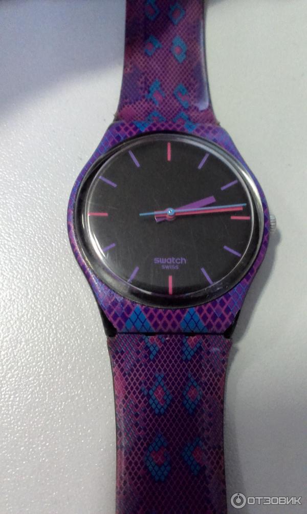Женские часы Swatch SNAKY PURPLE фото