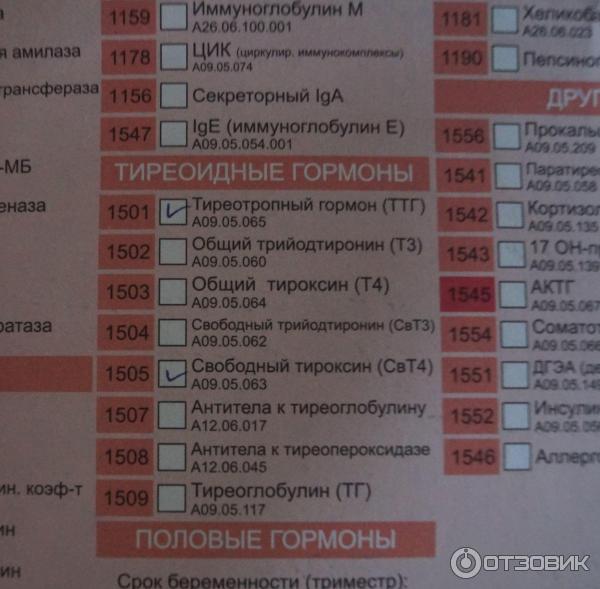 Бланк Анализов Гемотест