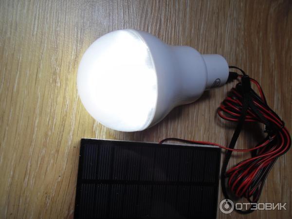 Лампа с солнечной батареей