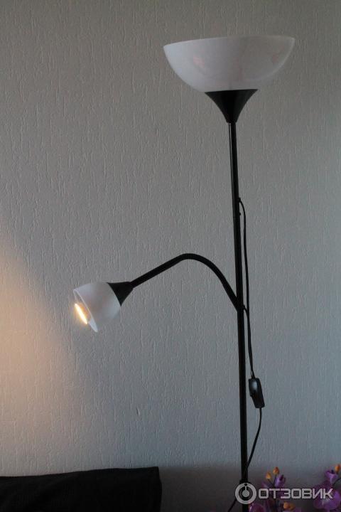 отзыв о торшер для чтения Ikea нут торшер со второй лампочкой на