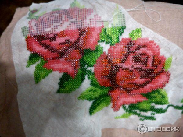 Водорастворимый флизелин для вышивки бисером с рисунком 45
