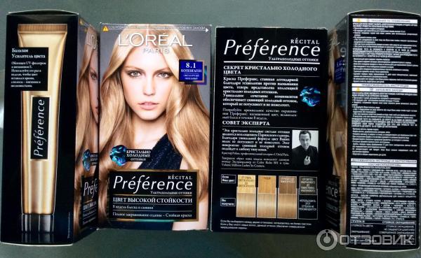 L'oreal paris preference glam light краска для волос для.
