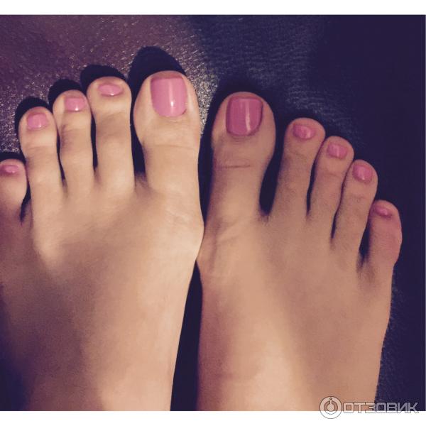 Гель лак на ногти на ногах
