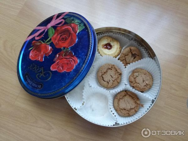 Бисквини новогодний дизайн сдобное печенье ассорти