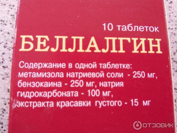Беллалгин от зубов