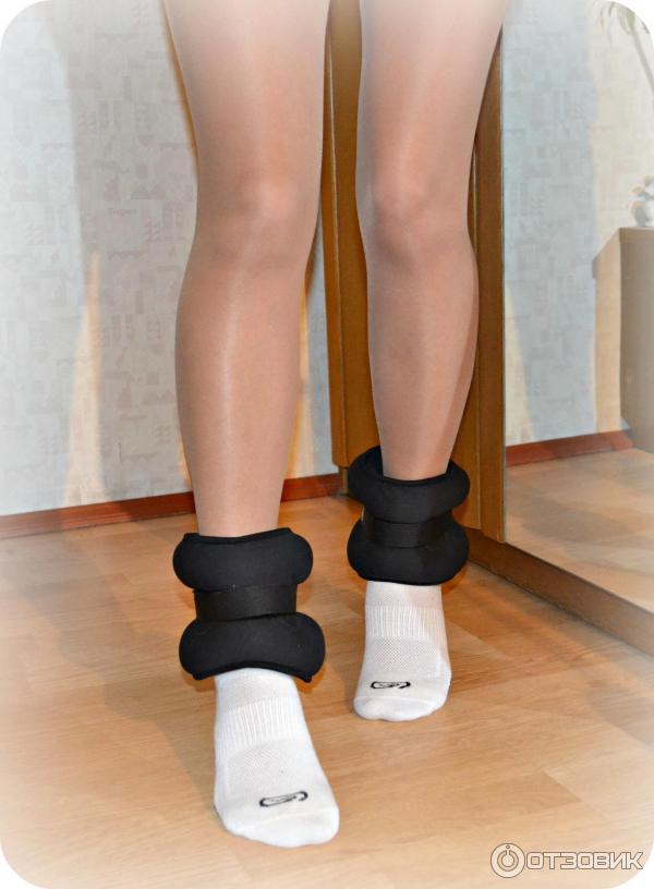 Как сделать утяжелители для ног в домашних 305