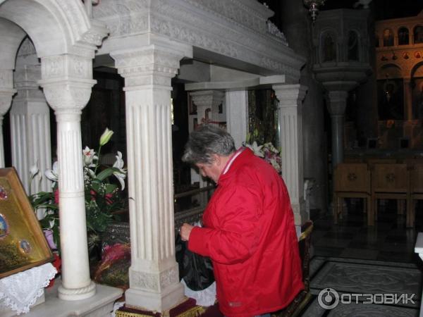 Рака с мощами св Иоанна Русского Греция о Эвбея