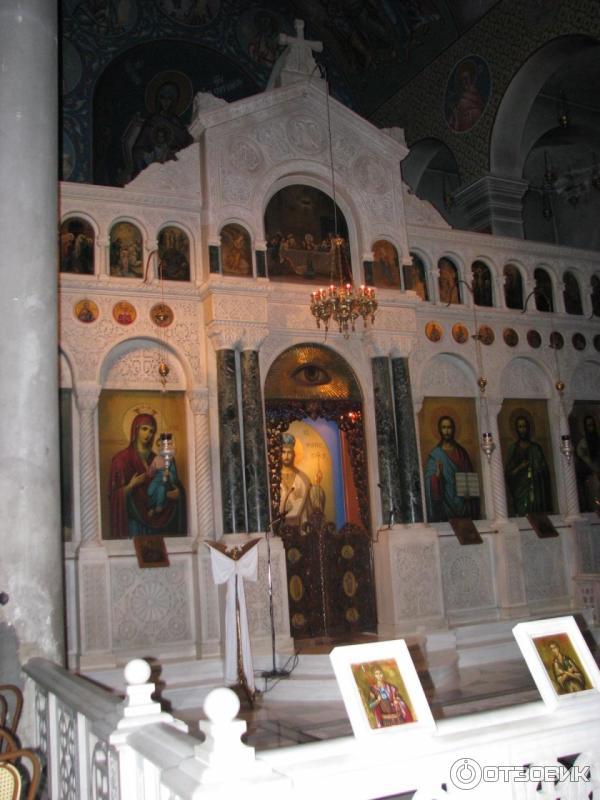 Храм святого Иоанна Русского остров Эвбея иконостас