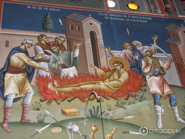 Храм святого Иоанна Русского остров Эвбея фреска